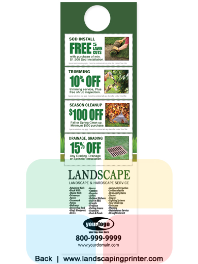 Landscaping Door Hanger 4 25 X 14 La1051 Aq Gloss