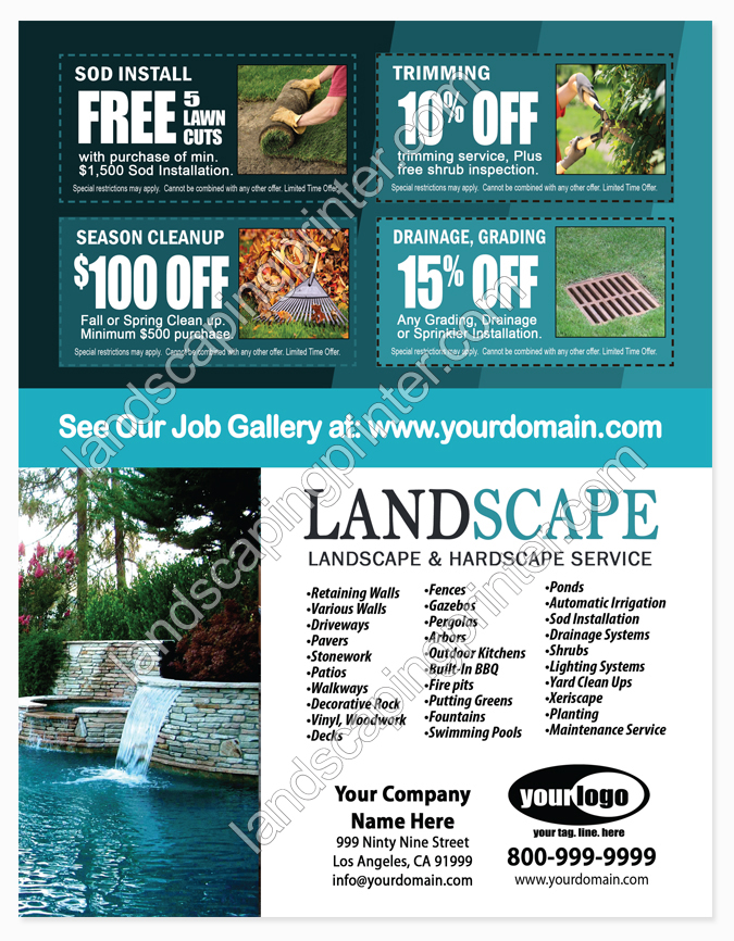 pool service flyers. Landscaping Flyers \ Pool Service