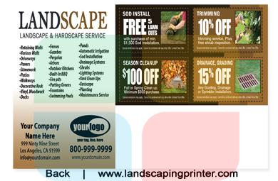 Landscaping Postcard Medium 8 5 X 5 5 La1041 Uv Gloss